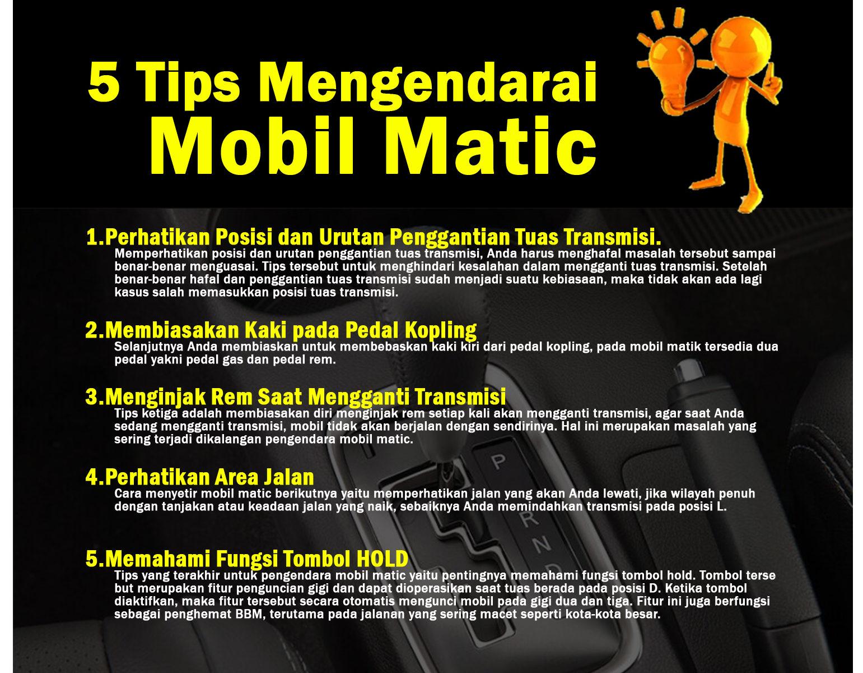 5 Tips Mengendarai Mobil Matik