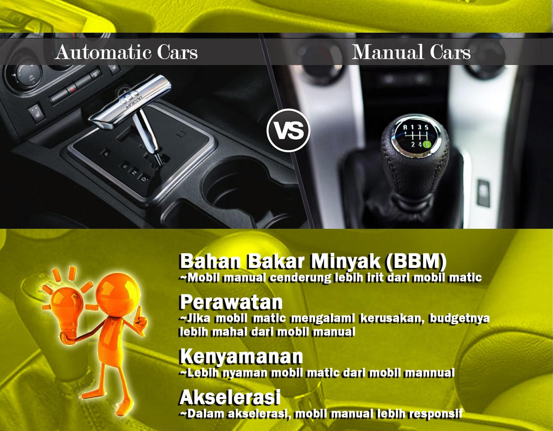 Perbedaan Mobil Matik dan Manual